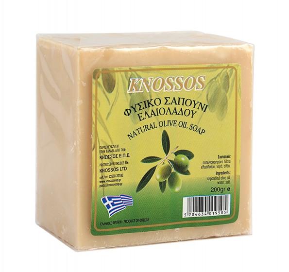 Натурален бял сапун със зехтин - 200 г, Knossos,  200 г