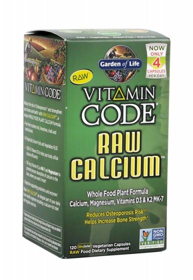 СУРОВ калций (RAW Calcium™) от Vitamin Code® - 120 капсули