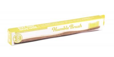 Бамбукова четка за зъби - жълта