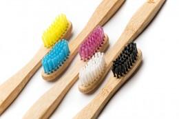 Детска бамбукова четка за зъби - жълта, Humble Co,  1 бр