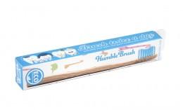 Детска бамбукова четка за зъби - синя, Humble Co,  1 бр