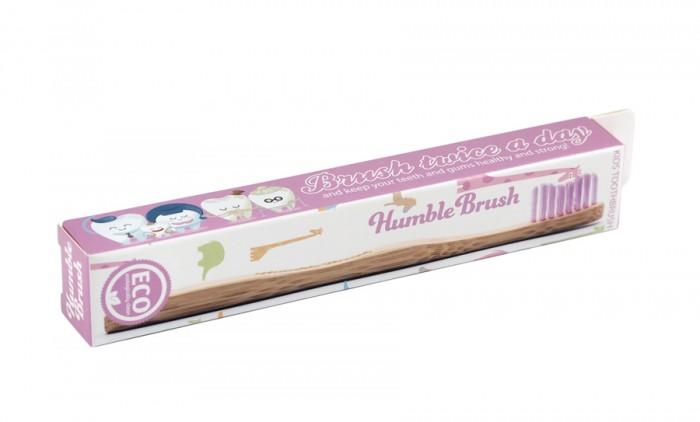 Детска бамбукова четка за зъби - розова, Humble Co,  1 бр