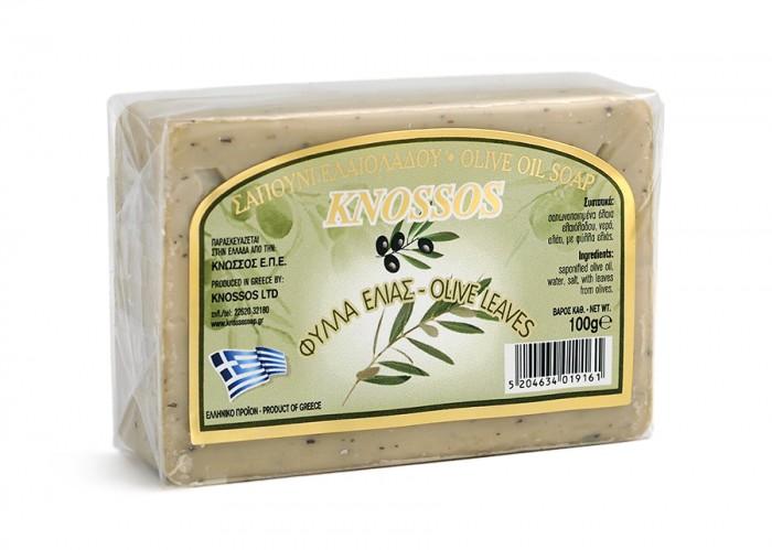 Натурален бял сапун със зехтин и маслинови листа – 100 г, Knossos,  100 г