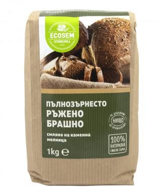 Натурално пълнозърнесто ръжено брашно - 1 кг