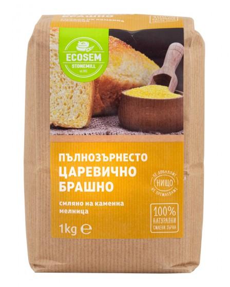 Натурално пълнозърнесто царевично брашно - 1 кг, Ecosem,  1 кг