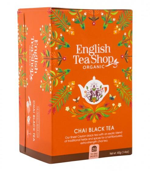 Органичен черен чай с подправки, English tea shop,  20 бр