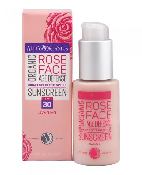 Био слънцезащитен крем за лице с SPF30 – 50 мл, Alteya Organics,  50 мл