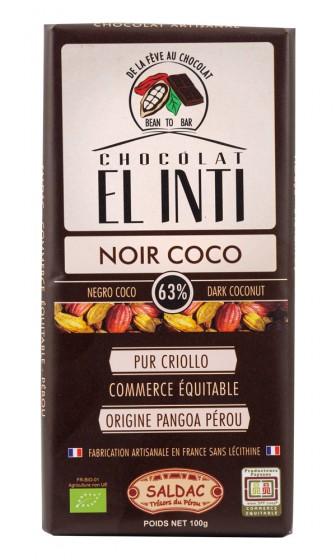Био тъмен шоколад с кокос – 100 г, Saldac,  100 г