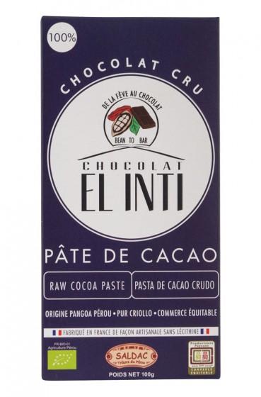 Био суров шоколад - 100% какао -  100 г, Saldac,  100 г