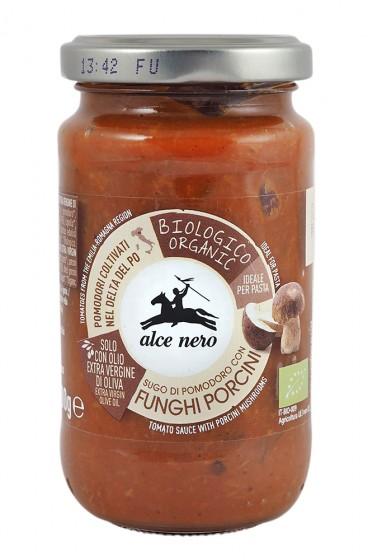 Био доматен сос с гъби Манатарки – 200 г, Alce Nero,  200 г