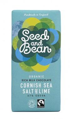 Органичен млечен шоколад с лайм и морска сол – 85 г