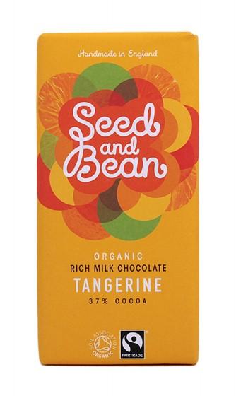 Органичен млечен шоколад с мандарина – 85 гр,  85 г