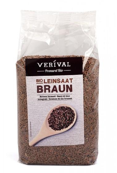 Био кафяво ленено семе – 500 г, Verival,  500 г
