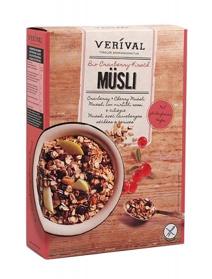 Био безглутеново мюсли с червени боровинки и череши – 300 г, Verival,  300 г