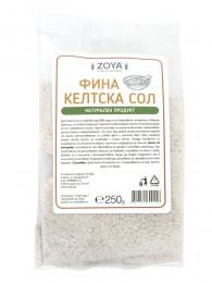 Келтска морска сол - фина, ZoyaBG ®,  250 г,  500 г