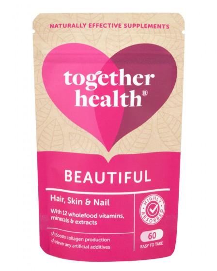 """Витаминен комплекс """"Красиви коса, кожа и нокти"""" – 60 капсули, Together Health,  60 бр"""