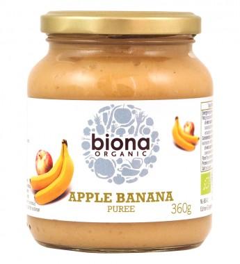 Плодово пюре - ябълка и банан - био - 360 г