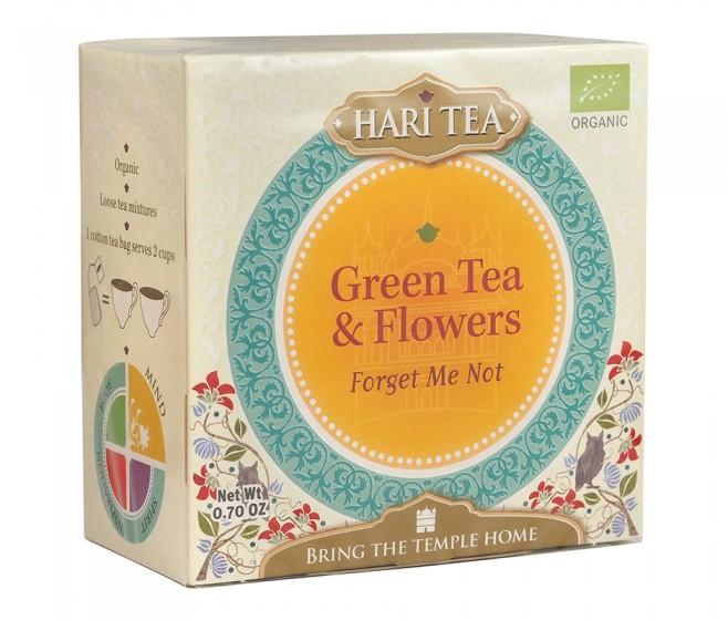 Органичен чай със зелен чай и цветя - Forget Me Not, Hari's ,  10 бр