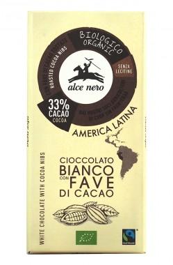 Био бял шоколад с какаови зърна – 100 г