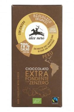 Био тъмен шоколад с джинджифил – 50 г