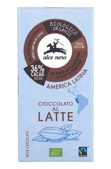 Био млечен шоколад – 100 г, Alce Nero,  100 г