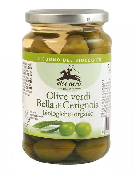 Био зелени маслини – 350 г, Alce Nero,  350 г
