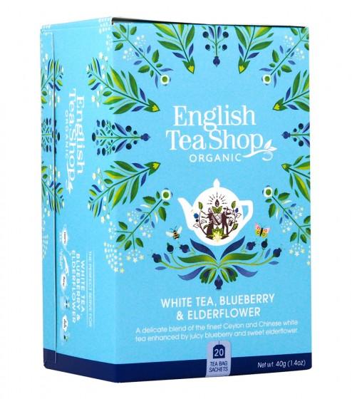 Органичен бял чай с боровинка и бъз