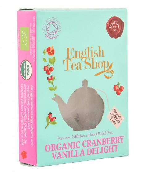 Органичен чай с червена боровинка и ванилия – 2 г, English tea shop,  2 г