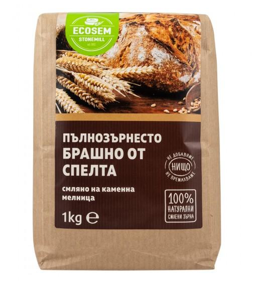 Натурално пълнозърнесто брашно от спелта – 1 кг, Ecosem,  1 кг