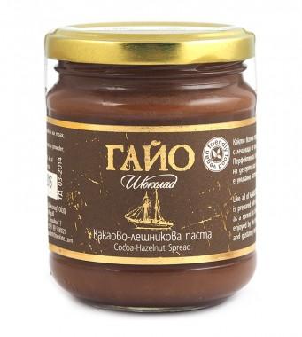 Какаово-лешникова паста Гайо - веган - 200 г