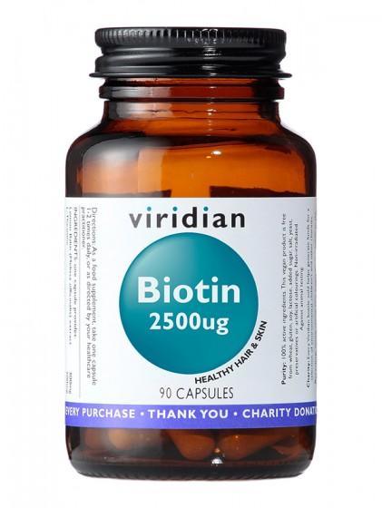 Биотин 2500мкг – 90 капсули, Viridian,  90 бр