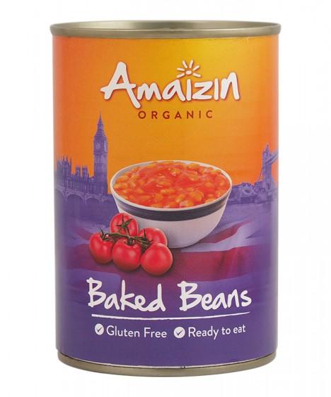 Био печен боб с домати – 400 гр, Amaizin,  400 г