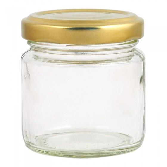 Стъклено прозрачно бурканче 106 мл,  1 бр