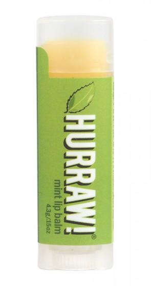 Балсам за устни Мента – 4,3 гр, Hurraw! Balm,  4.3 г
