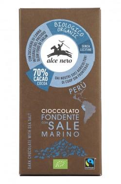 Натурален шоколад 70% с морска сол – био – 50 г