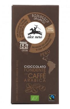Натурален шоколад 70% с кафе – био – 50 г