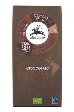 Натурален био шоколад 75% - 100 г