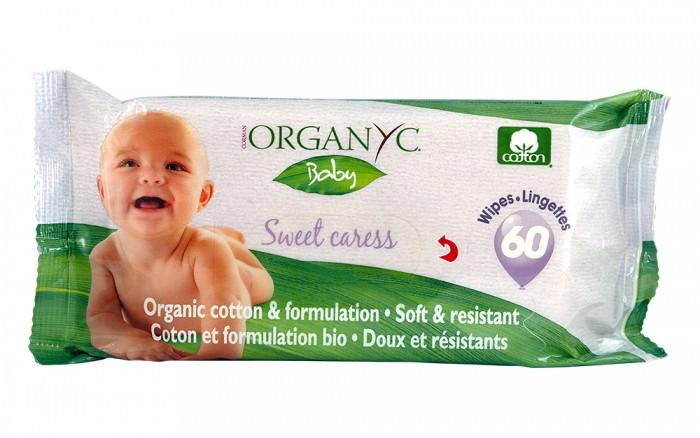 Био бебешки мокри кърпички – 60 бр., Organyc,  60 бр