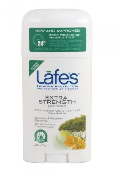 Натурален стик дезодорант Extra Strength – 63 гр, Lafe's,  63 г