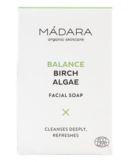 Балансиращ сапун за лице с бреза и водорасли - 70 гр, Madara,  70 г