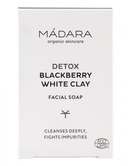 Почистващ сапун за лице с къпина и бяла глина - 70 гр, Madara,  70 г