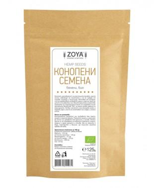 Конопени семена - белени - био - 125/250 г