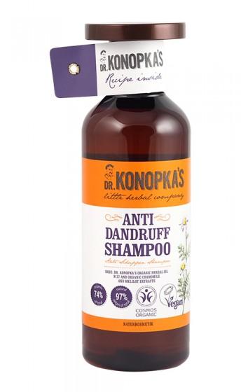 Натурален шампоан против пърхот – 500 мл, Dr. Konopka's,  500 мл