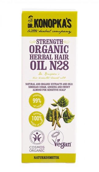 Органично подсилващо билково масло за коса №28 – 30 мл