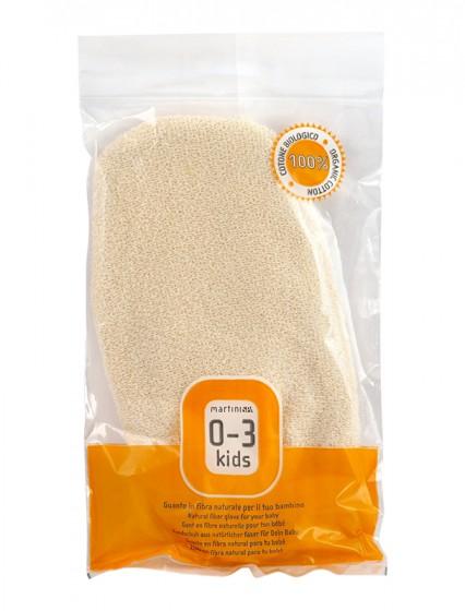 Мека ръкавица за деца от био памук, Martini Spa,  1 бр