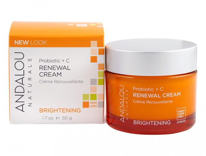 Обновяващ крем за лице Пробиотик и витамин С – 50 гр, Andalou,  50 г
