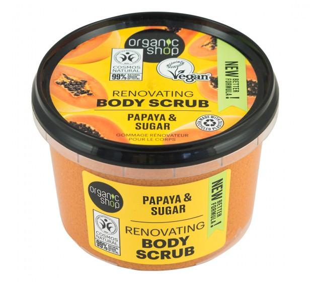 """Пилинг за тяло """"Сочна папая"""" – 250 мл, Organic Shop,  250 мл"""
