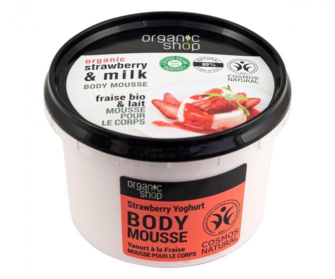 """Мус за тяло """"Ягодово мляко"""" – 250 мл, Organic Shop,  250 мл"""