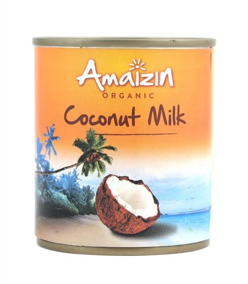 Кокосово мляко без сгъстител - био - 200 мл, Amaizin,  200 мл