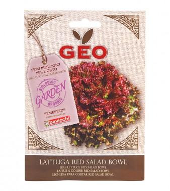 Био семена - Листна червена салата сорт Red Salad Bowl - 4.5 г
